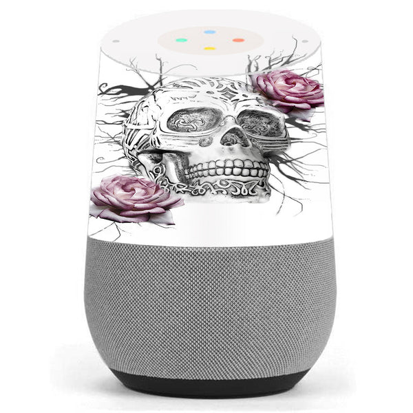 Roses In Skull Google Home Skin