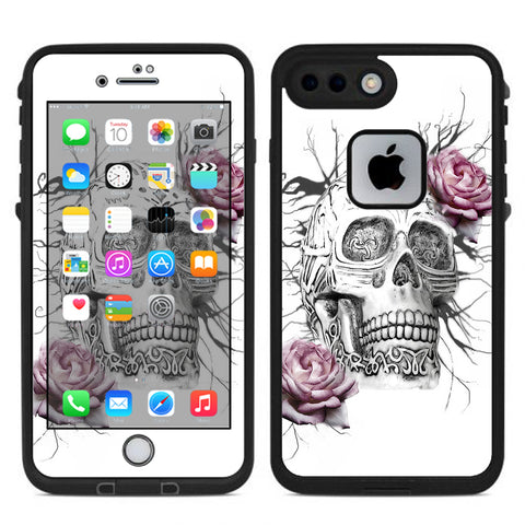 Roses In Skull Lifeproof Fre iPhone 7 Plus or iPhone 8 Plus Skin