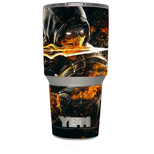 Scorpion With Flaming Sword Yeti 30oz Rambler Tumbler Skin
