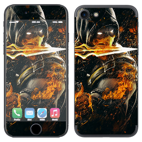 Scorpion With Flaming Sword Apple iPhone 7 or iPhone 8 Skin