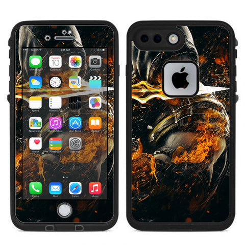 Scorpion With Flaming Sword Lifeproof Fre iPhone 7 Plus or iPhone 8 Plus Skin
