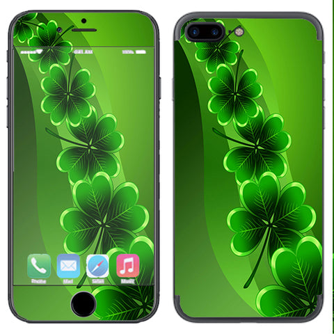 Shamrocks, Glowing Green Apple  iPhone 7+ Plus / iPhone 8+ Plus Skin