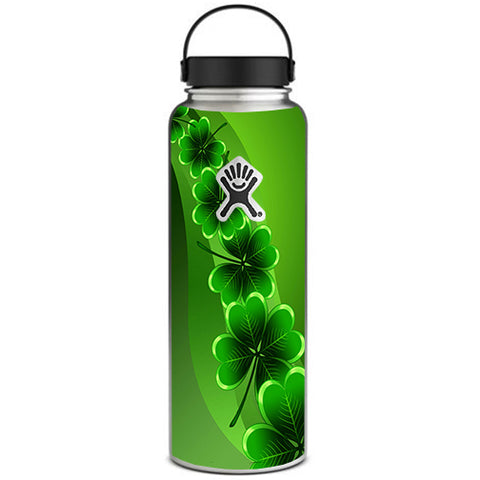 Shamrocks, Glowing Green Hydroflask 40oz Wide Mouth Skin