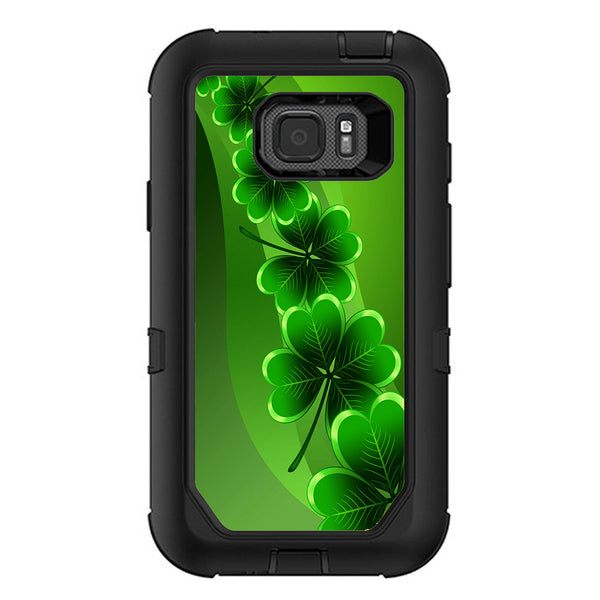 brand new f3cd6 fcbc6 Shamrocks, Glowing Green Otterbox Defender Samsung Galaxy S7 Active Skin