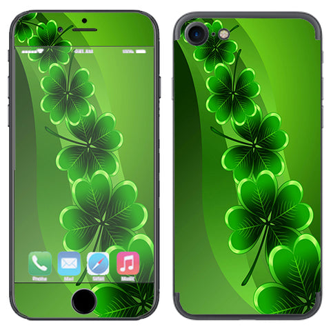 Shamrocks, Glowing Green Apple iPhone 7 or iPhone 8 Skin