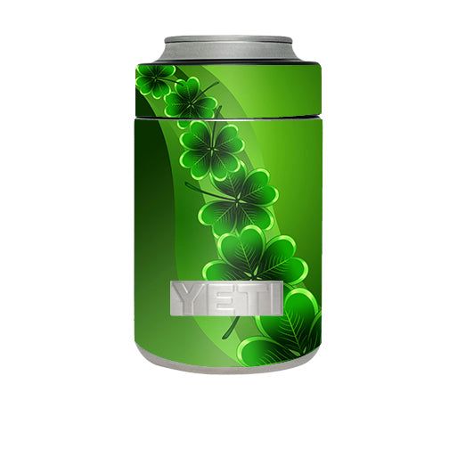 Shamrocks, Glowing Green Yeti Rambler Colster Skin