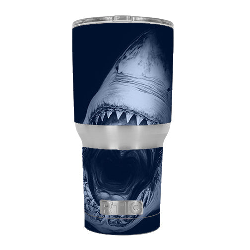 Shark Attack RTIC 30oz Tumbler Skin