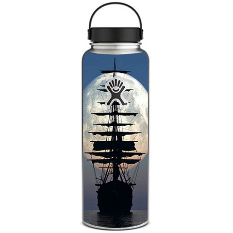 Tall Sailboat, Ship In Full Moon Hydroflask 40oz Wide Mouth Skin