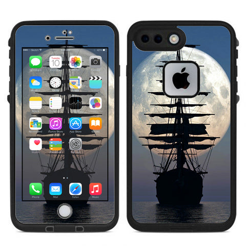 Tall Sailboat, Ship In Full Moon Lifeproof Fre iPhone 7 Plus or iPhone 8 Plus Skin