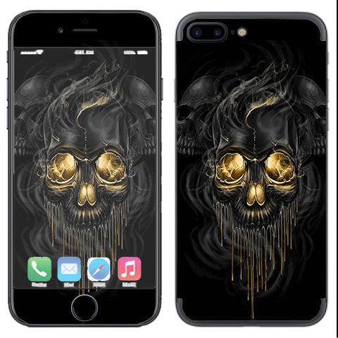 Golden Skull, Glowing Skeleton Apple  iPhone 7+ Plus / iPhone 8+ Plus Skin