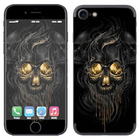 Golden Skull, Glowing Skeleton Apple iPhone 7 or iPhone 8 Skin