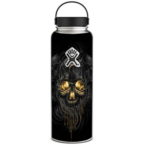 Golden Skull, Glowing Skeleton Hydroflask 40oz Wide Mouth Skin