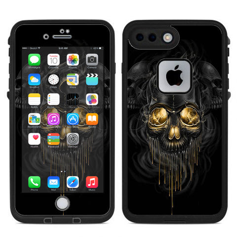 Golden Skull, Glowing Skeleton Lifeproof Fre iPhone 7 Plus or iPhone 8 Plus Skin