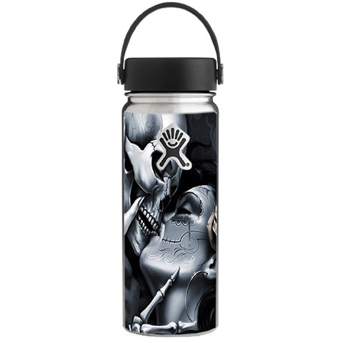 Skeleton Kissing, Day Of The Dead Hydroflask 18oz Wide Mouth Skin