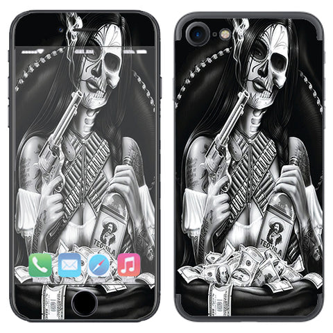 Skull Girl Gangster, Day Of The Dead Apple iPhone 7 or iPhone 8 Skin