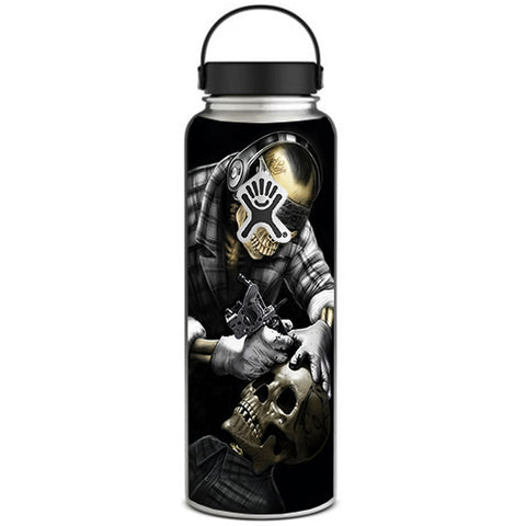 Skeleton Tattooer, Skull Tattooed Hydroflask 40oz Wide Mouth Skin