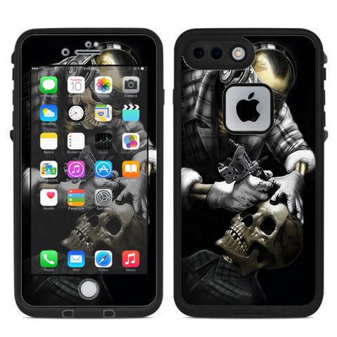 Skeleton Tattooer, Skull Tattooed Lifeproof Fre iPhone 7 Plus or iPhone 8 Plus Skin