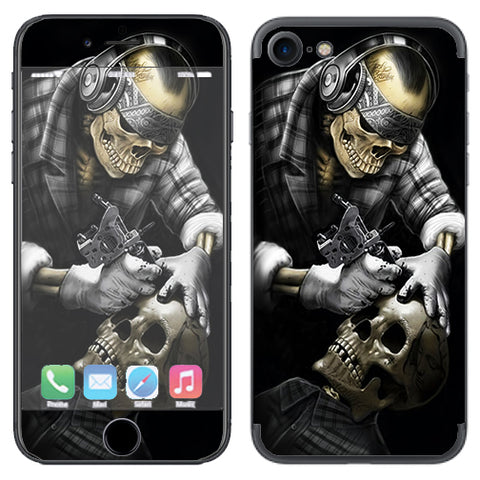 Skeleton Tattooer, Skull Tattooed Apple iPhone 7 or iPhone 8 Skin