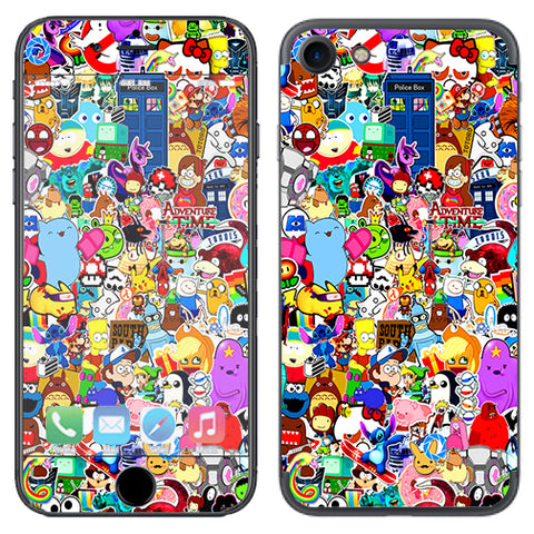 Sticker Collage,Sticker Pack Apple iPhone 7 or iPhone 8 Skin