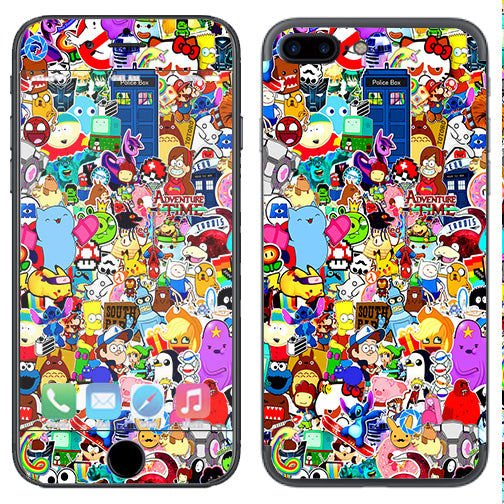 premium selection 8cbaf 49055 Sticker Collage,Sticker Pack Apple iPhone 7+ Plus / iPhone 8+ Plus Skin