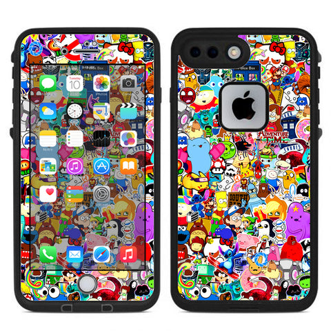 Sticker Collage,Sticker Pack Lifeproof Fre iPhone 7 Plus or iPhone 8 Plus Skin