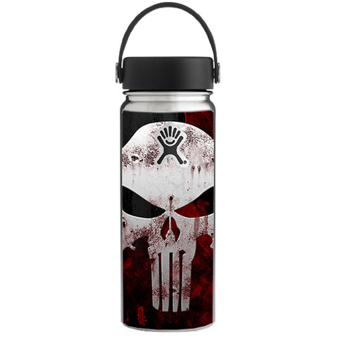 Punish Face On Glowing Red Hydroflask 18oz Wide Mouth Skin
