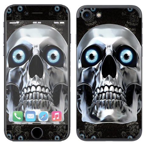 Punish Face On Glowing Red Apple iPhone 7 or iPhone 8 Skin