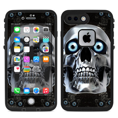 Punish Face On Glowing Red Lifeproof Fre iPhone 7 Plus or iPhone 8 Plus Skin