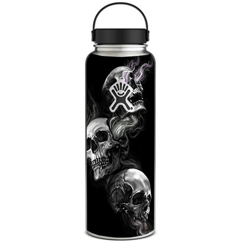 Glowing Skulls In Smoke Hydroflask 40oz Wide Mouth Skin