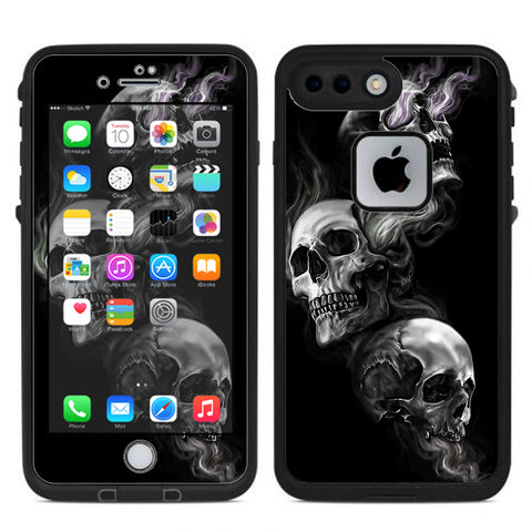 Glowing Skulls In Smoke Lifeproof Fre iPhone 7 Plus or iPhone 8 Plus Skin