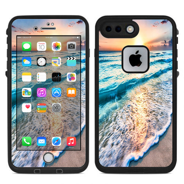 Skin Decal for Lifeproof Fre iPhone 7 Plus or iPhone 8 Plus Case   sunset  on beach  bd412a0abb8b