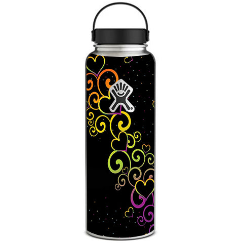 Trail Of Glowing Hearts Hydroflask 40oz Wide Mouth Skin