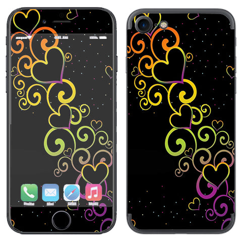 Trail Of Glowing Hearts Apple iPhone 7 or iPhone 8 Skin