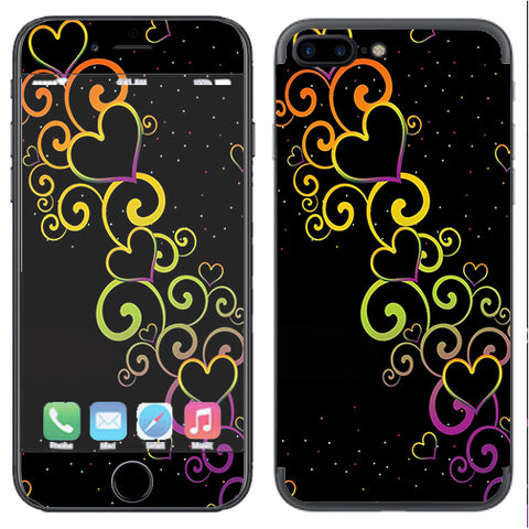 Trail Of Glowing Hearts Apple  iPhone 7+ Plus / iPhone 8+ Plus Skin