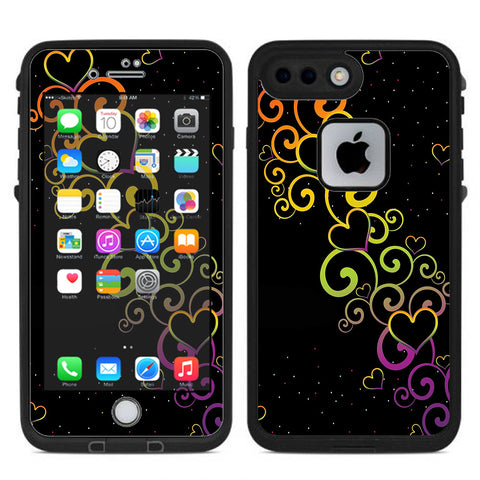 Trail Of Glowing Hearts Lifeproof Fre iPhone 7 Plus or iPhone 8 Plus Skin