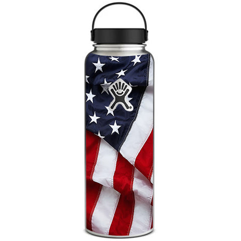 Us Flag, America Proud Hydroflask 40oz Wide Mouth Skin