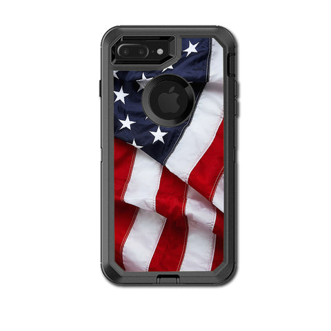 Us Flag, America Proud Otterbox Defender iPhone 7+ Plus or iPhone 8+ Plus Skin