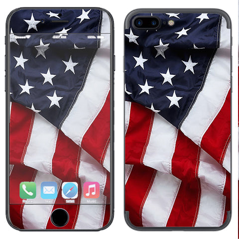 Us Flag, America Proud Apple  iPhone 7+ Plus / iPhone 8+ Plus Skin