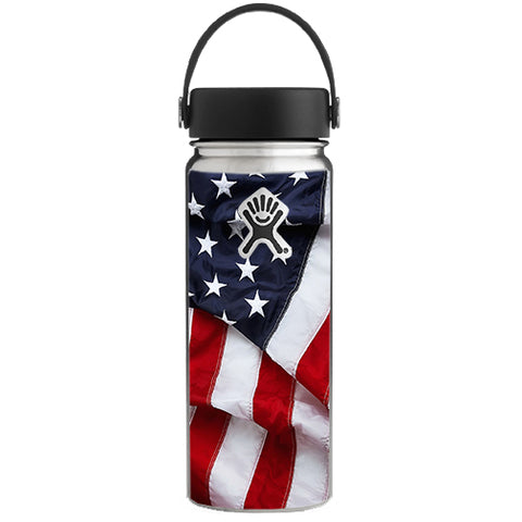 Us Flag, America Proud Hydroflask 18oz Wide Mouth Skin