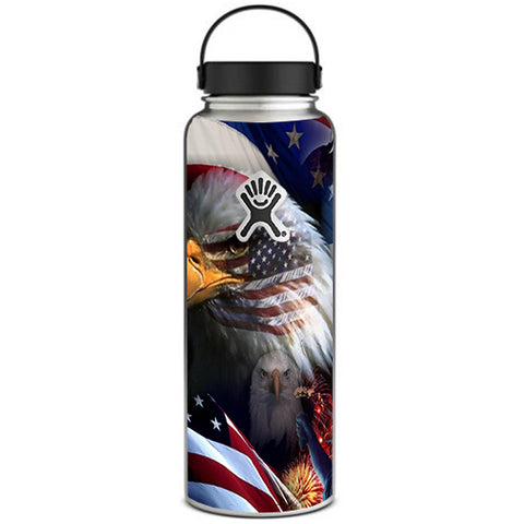 Usa Bald Eagle In Flag Hydroflask 40oz Wide Mouth Skin