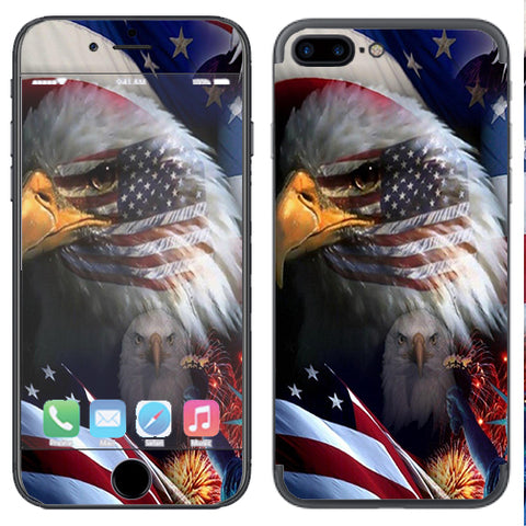 Usa Bald Eagle In Flag Apple  iPhone 7+ Plus / iPhone 8+ Plus Skin