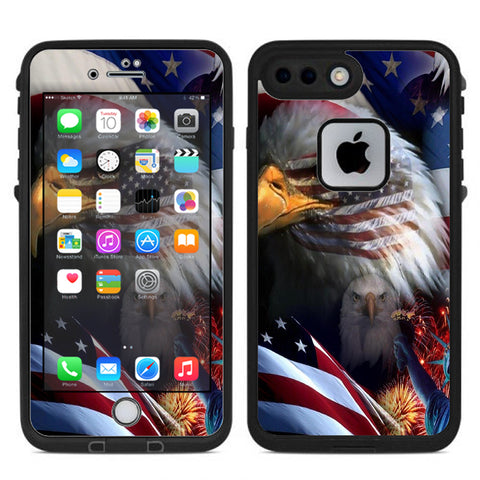 Usa Bald Eagle In Flag Lifeproof Fre iPhone 7 Plus or iPhone 8 Plus Skin