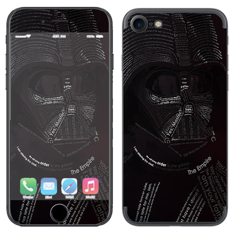 Lord, Darkness, Vader Apple iPhone 7 or iPhone 8 Skin
