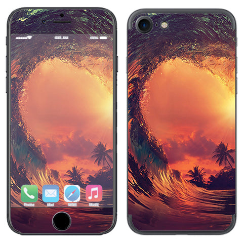 Sunset Through A Tube, Barrel Ride Apple iPhone 7 or iPhone 8 Skin