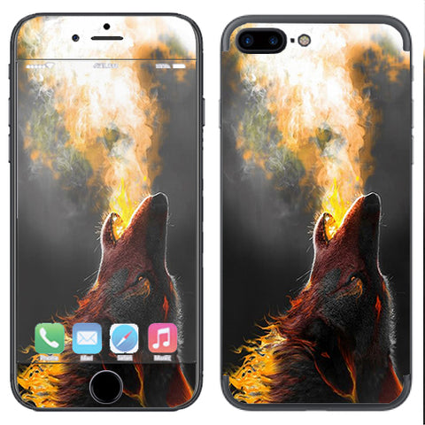 Wolf Howling At Moon Apple  iPhone 7+ Plus / iPhone 8+ Plus Skin