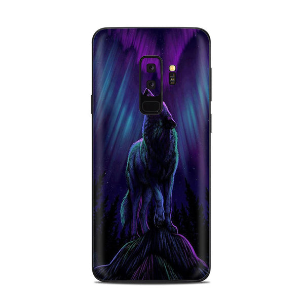 Skins Decals For Samsung Galaxy S9 Plus Wolf In Glowing Purple Background Itsaskin Com