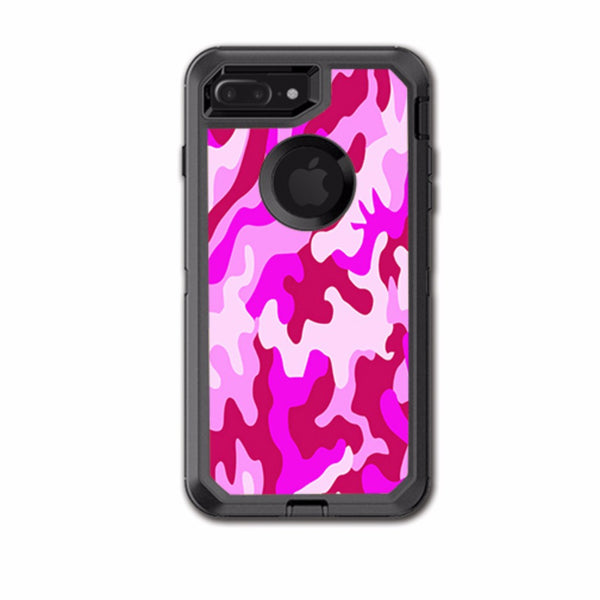 best sneakers 0cc0c 60ed2 Pink Camo, Camouflage Otterbox Defender iPhone 7+ Plus or iPhone 8+ Plus  Skin