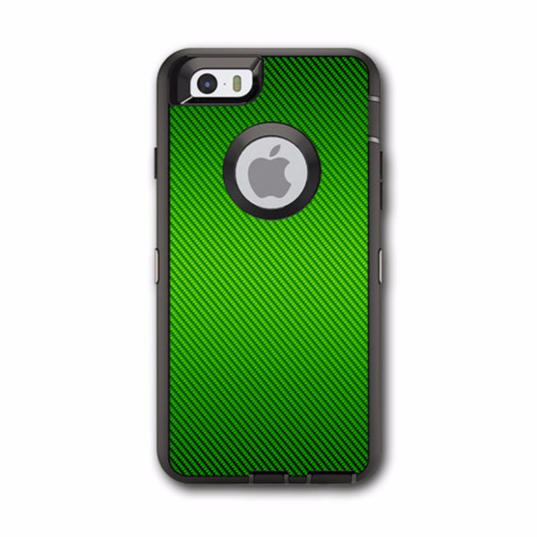 Lime Green Carbon Fiber Graphite Otterbox Defender iPhone 6 Skin
