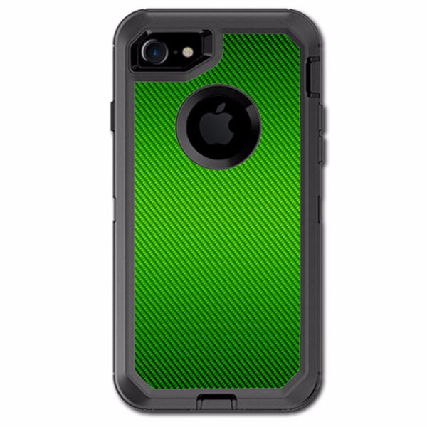 Lime Green Carbon Fiber Graphite Otterbox Defender iPhone 7 or iPhone 8 Skin
