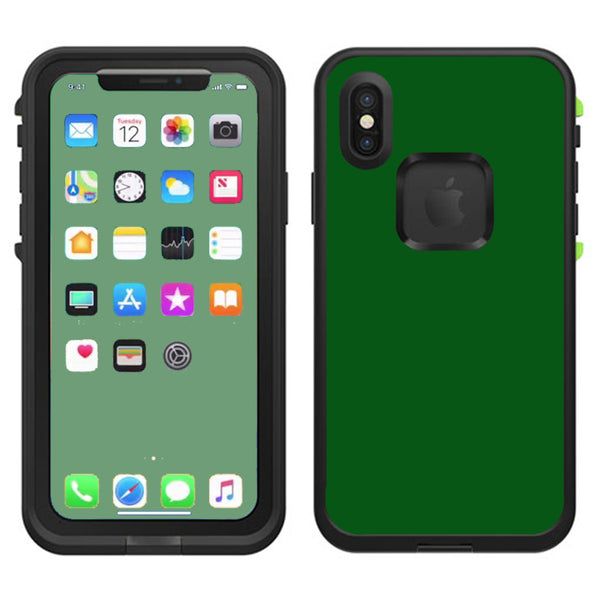 cheap for discount ec7b5 888af Solid Green,Hunter Green Lifeproof Fre Case iPhone X Skin
